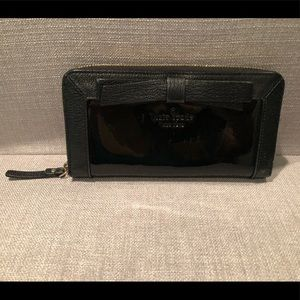 Black Kate Spade Patent Leather Wallet with a Bow